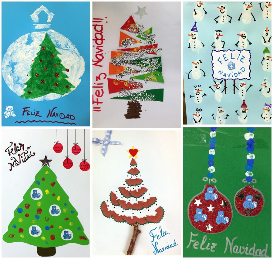 Concurso de tarjetas de navidad de escuelas infantiles kidsco for Tarjetas de navidad para ninos pequenos