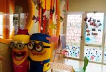 Aulas de 1-2 años con acceso directo a patio individual