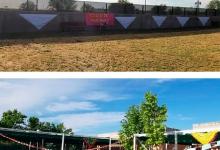 Amplio patio general y patios separados por aulas con acceso directo desde las mismas. (Zona de Columpios y Huerto)